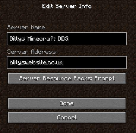 New Minecraft server updates (PC / Laptop Java Version) Billy s